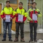 Die Gewinner Franz Kuner 1. Platz, Kevin Kögler 2. Platz und Richard Schneider 3. Platz vom Staatsbetrieb Sachsenforst FOB Chemnitz