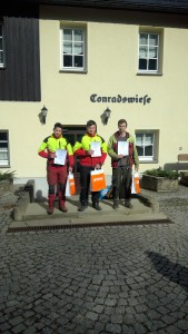 die Gewinner. John Jahn, Eric Echtner und Patrick Petzoldt (v. Links)