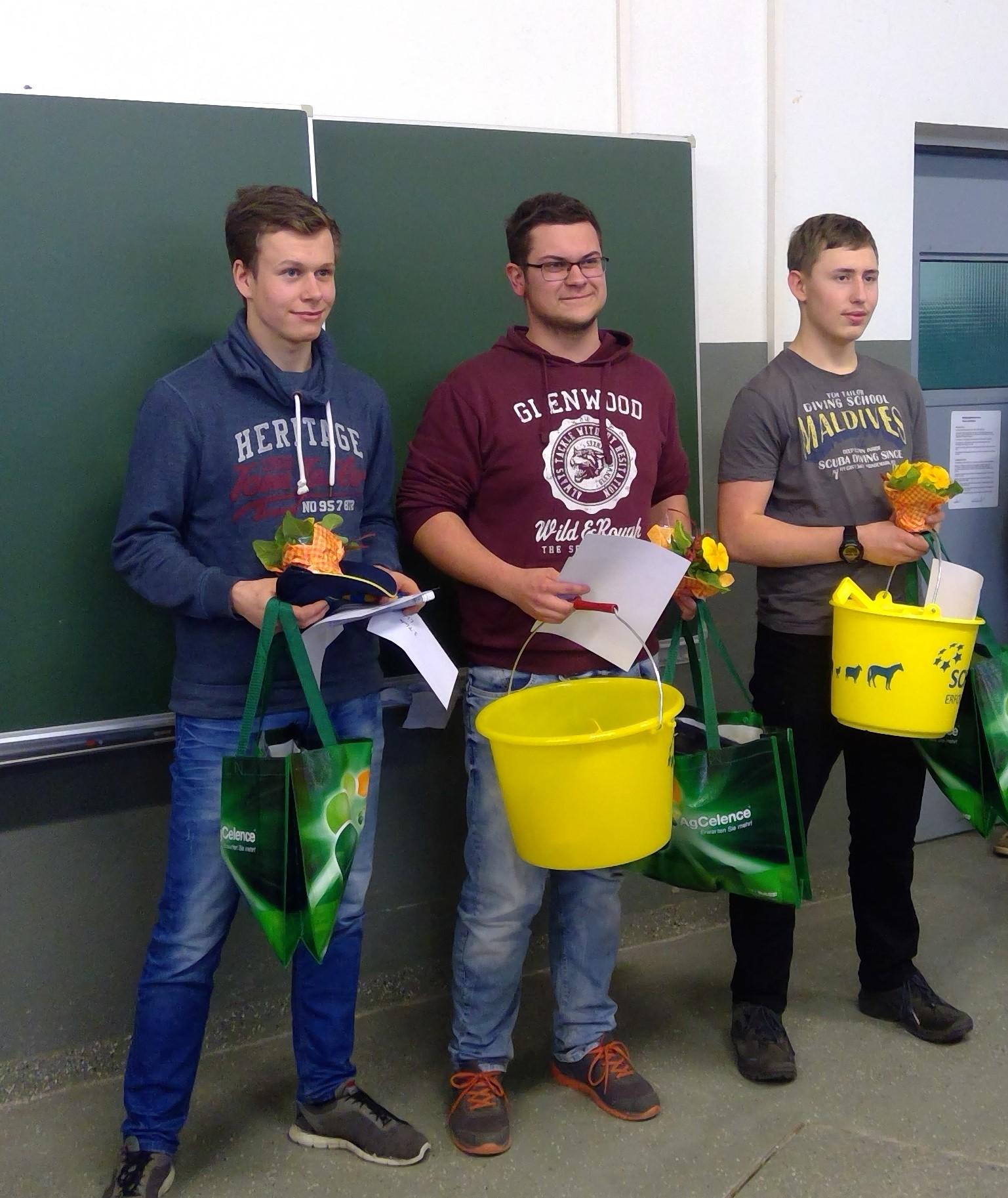 Paul Hartmann, Michael Peise und Martin Simmig (v. links)