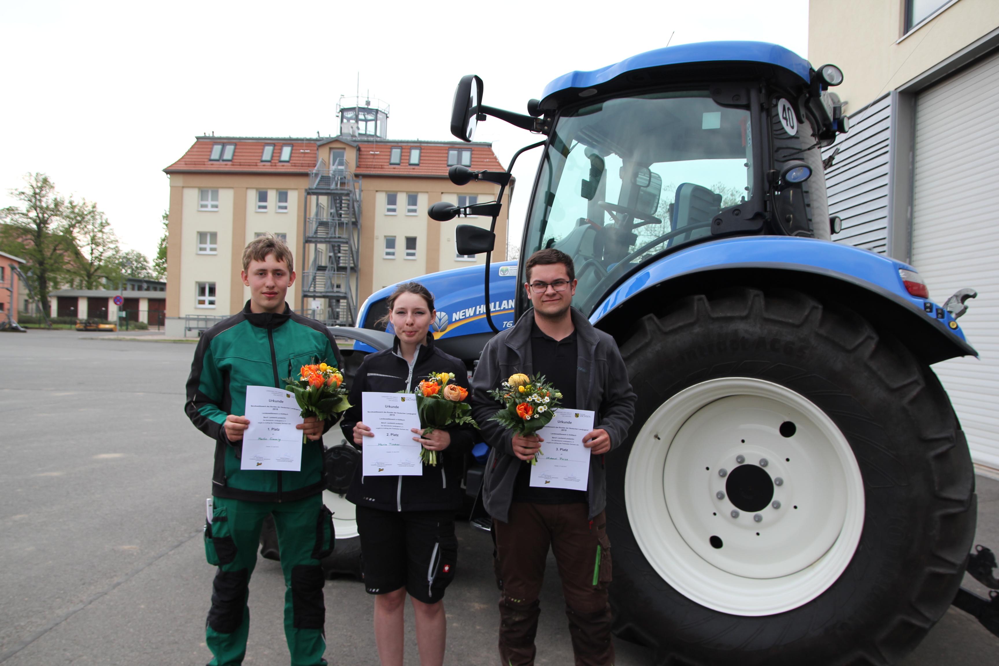 Martin Simmig, Maria Tischer und Michael Peise (v. links)