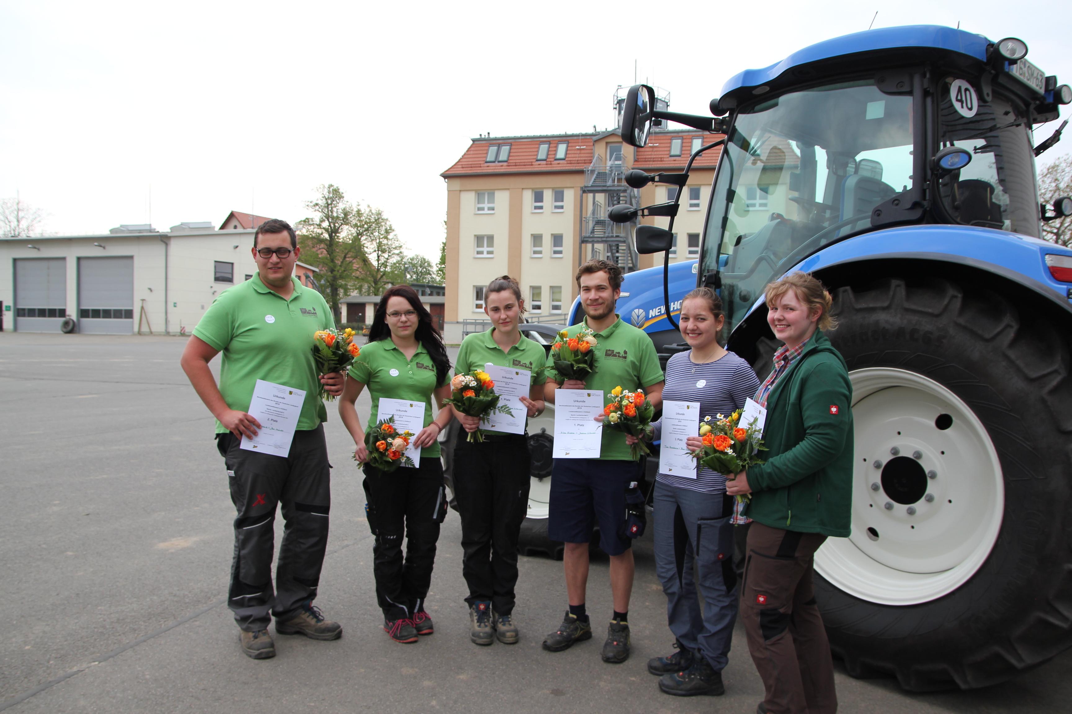 Jan Mücke, Nadine Schulz, Elisa Eichler, Joshua Ulbricht, Tina Forchheim und Anne Colditz (v. links)